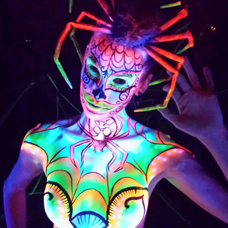 Body Painting Black Light Gallery Image